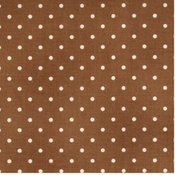 "End of Bolt - 53"" - Home Essentials - Brown/Cream Dots - by Robyn Pandolph for RJR Fabrics"