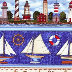 Anchor's Aweigh Bordered Nautical Print By Dan Morris
