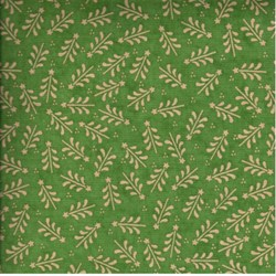 Here Comes Santa Christmas Trees on Green by Arlene Neely for Red Rooster Fabrics