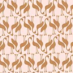 Pond Collection- Gold Swan Pattern by Elizabeth Hartman for Robert Kaufman