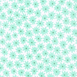 Pond Collection- Ice Frappe Small Flower Pattern by Elizabeth Hartman for Robert Kaufman
