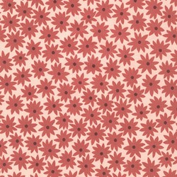 Pond Collection- Terracotta Small Flower Pattern by Elizabeth Hartman for Robert Kaufman