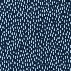 "14"" Remnant Piece - Pacific Collection- Navy/ Raindrop by Elizabeth Hartman for Robert Kaufman"