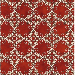 Roosters - Red Medallion - by Audrey Jeanne Roberts for In the Beginning Fabrics