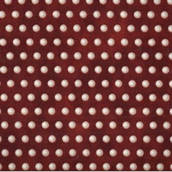 Roosters - Red/Cream Dots - by Audrey Jeanne Roberts for In the Beginning Fabrics