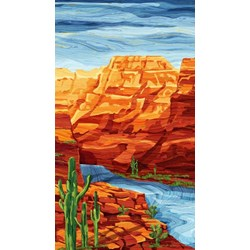 "Sandscapes Landscapes - Clay 24"" Panel - by By Deborah Edwards for Northcott Studio"