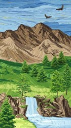 "Sandscapes Landscapes - Mountain 24"" Panel - by By Deborah Edwards for Northcott Studio"
