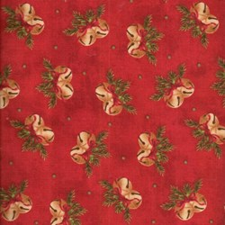 "End of Bolt - 47"" - Santa Claus - Bells on Red - by Tom Browning for Maywood Studios"