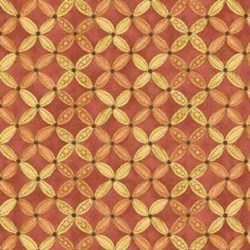 Shine - Red/Gold Geometric - by Jackie Paton for Red Rooster Fabrics