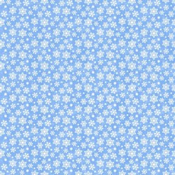 Snow Bears - Flannel - Snowflake in Light Blue - by Deborah Edwards for Northcott