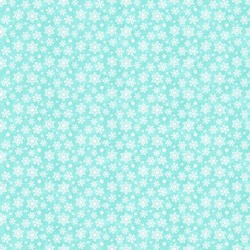 "End of Bolt - 51"" - Snow Bears - Flannel - Snowflake in Turquoise - by Deborah Edwards for Northcott"