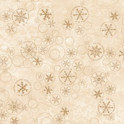 Snowbound - Cream Swirly Snowflake - by Buggy Barn for Henry Glass & Co. Inc.