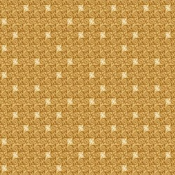 Snowbound - Gold Snowflake Check Swirl - by Buggy Barn for Henry Glass & Co. Inc.