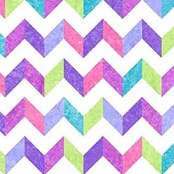 Stonehenge Little Girls Rainbow - Purple Chevron - by Deborah Edwards and Linda Ludovico for Northcott