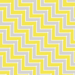 Sweet Harmony - Yellow/Gray Chevron Pattern - by Amy Hamberlin for Henry Glass & Co. Inc.