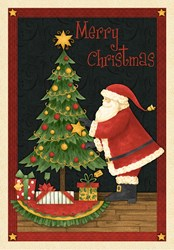 "Santa's Big Night - 24"" Panel - by Debbie Mumm for Wilmington Prints"