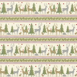 "47"" End of Bolt Piece - Holiday Meadow - Border Print - Wilmington Prints"