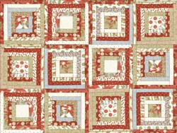 "Winter Quilting Fabric by Moda - 8"" Panel (5 Squares)"