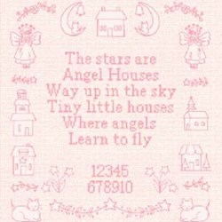 "Angel Houses - 24"" Pink Panel"