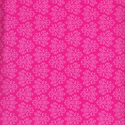 Christmas Candy - Fat Quarter -Pink Damask- by Doodlebug Designs for Riley Blake Designs