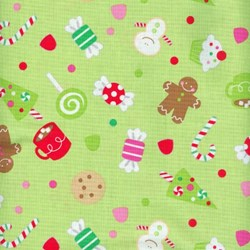 Christmas Candy - Main Print in Green - by Doodlebug Designs for Riley Blake Designs