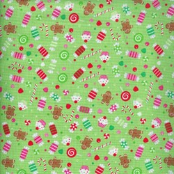 Christmas Candy - Candy Print in Green - by Doodlebug Designs for Riley Blake Designs