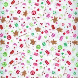 Christmas Candy - Candy Print in White - by Doodlebug Designs for Riley Blake Designs