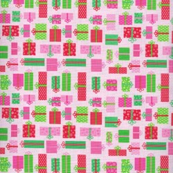 Christmas Candy - Presents on Pink - by Doodlebug Designs for Riley Blake Designs