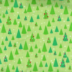 Christmas Candy - Trees on Green - by Doodlebug Designs for Riley Blake Designs