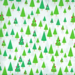 Christmas Candy - Trees on White - by Doodlebug Designs for Riley Blake Designs