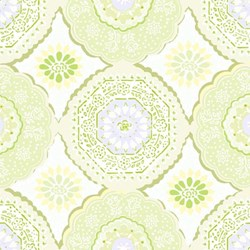 "44"" End of Bolt Piece - Dream A Little Dream - Tilework in Green - by Keri Beyer for In The Beginning Fabrics"