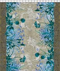 "76"" End of Bolt Piece - Dreamscapes - Large Floral Blues"