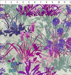 Dreamscapes - Large Purple Florals Pattern