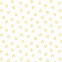 Emma Louise & Ethan Michael Flannel - White with Yellow Dot