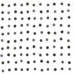 Happy - White with Black Dots