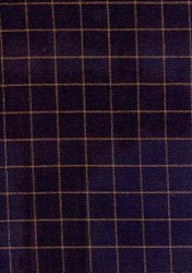 Homespun Fabric <br>Navy/Brown Check