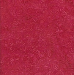 Island Batik Rose of Sharon - Fat Quarter - Red Swirls