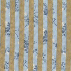 END OF BOLT- HeatherRose Window Stripe in Mist by Lakehouse Dry Goods