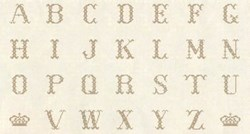 "Cross-Stitch Alphabet Bronze - 24"" Panel by Lakehouse Dry Goods"