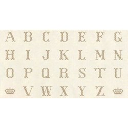 "Vintage Find!  Cross-Stitch Alphabet Bronze - 24"" Panel by Lakehouse Dry Goods"
