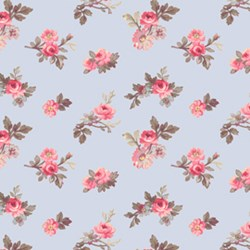 Penelope Medium Rose Sprigs in Periwinkle by Lakehouse Dry Goods