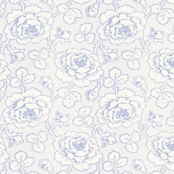 Penelope Luscious Rose Toile in Periwinkle by Lakehouse Dry Goods