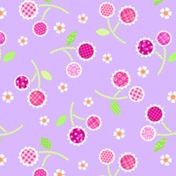 Sweet Things Cherries Lavender by Holly Holderman of LakeHouse Dry Goods