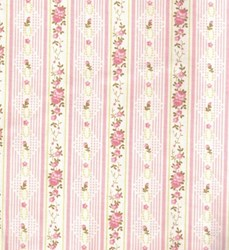 Soft Floral Stripe - Powder