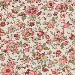 "71"" End of Bolt Piece - Floral on Blanche - Le Bouquet Fracais by French General for Moda"