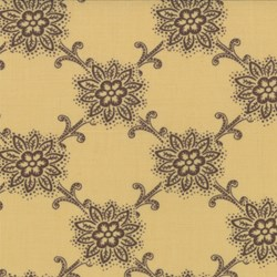 Floral Pattern on French Ivory - Le Bouquet Fracais by French General for Moda