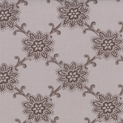 Floral Pattern on Grise - Le Bouquet Fracais by French General for Moda