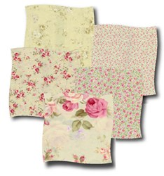Lecein- Mini Fat Quarter packs - Fancy Florals - Green