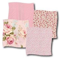 "Lecein- 6"" Sweet Roll - Fancy Florals - Pink"