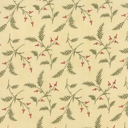 LILIES OF THE FIELD - Berries & Twigs - Hemp - by Jan Patek for MODA